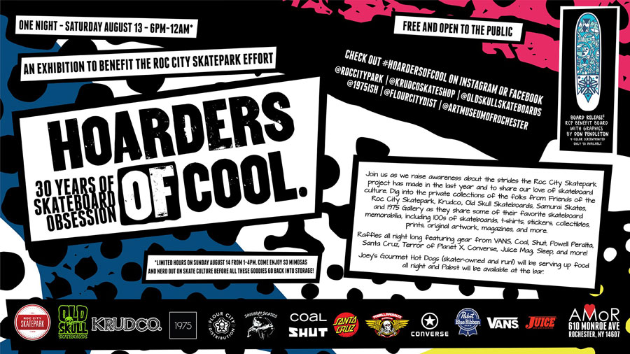 Hoarders of COOL - An Exhibition to Benefit the Roc City Skatepark Effort