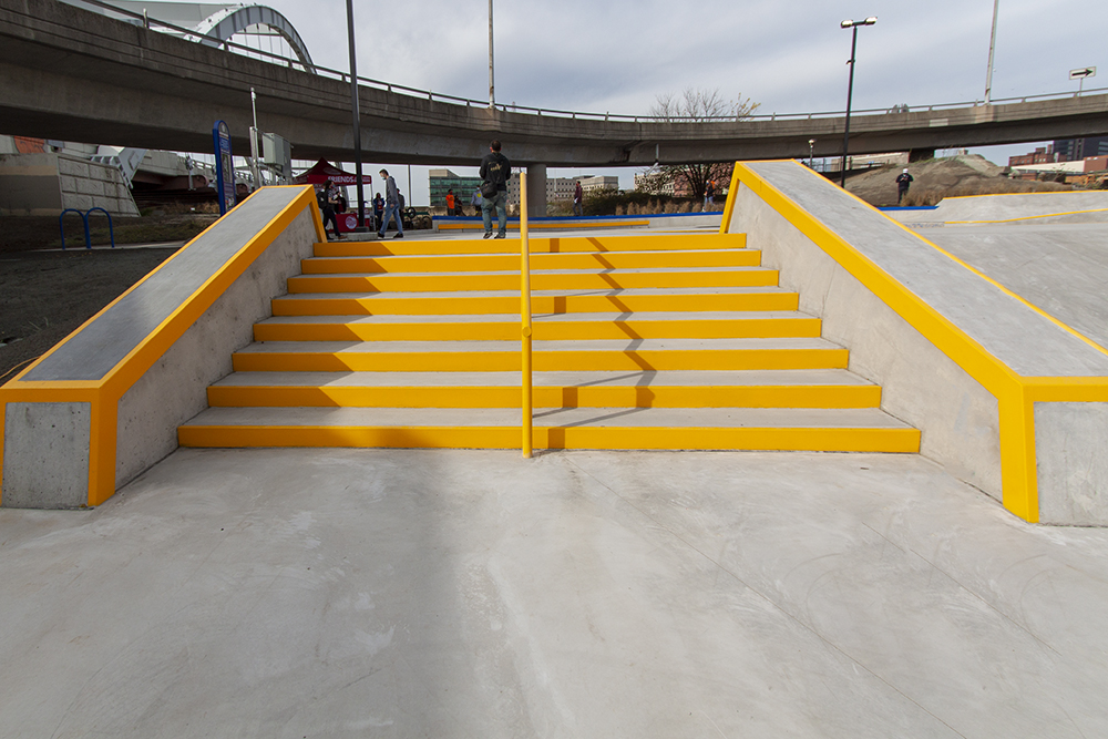 The stairs and hubbas